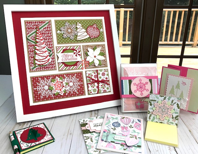 Projects for Santa's Workshop in Swanville Maine on Oct. 9, 2021. Email lynda@crafterinspired.com for details.