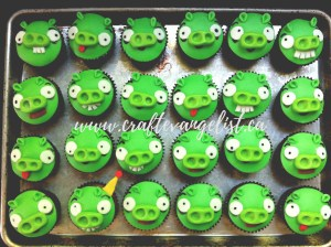 Wow! Bad Piggie Cupcakes