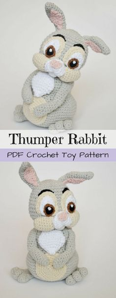 Thumper! Oh my goodness! He's such a perfect replica! Thumper stuffed toys are so hard to find! This is great! What an adorable crochet amigurumi pattern to make this sweet toy! Check out this collection of craft evangelist's finds