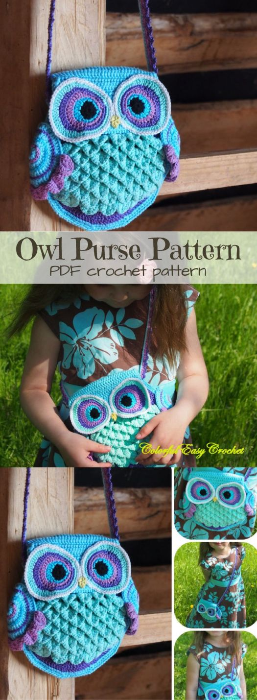 I LOVE OWLS!!! So adorable! What a cute crocheted purse pattern! I can't wait to make this! See more of today's crafty finds at craftevangelist.ca
