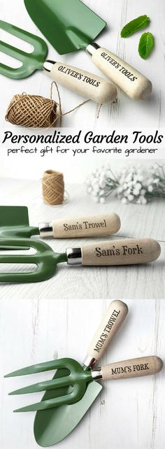 Personalized Garden tools for the gardener in your life. These would make a lovely mother's day or father's day gift! Check out all of craft evangelist's mother's day gift suggestions.