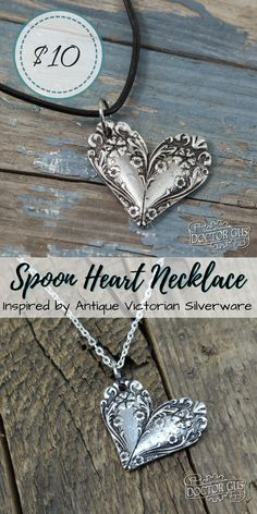 Necklace pendant inspired by antique victorian silverware! What a great idea! So beautiful! I bet my mom would love something like this! Check out all of craft evangelist's mother's day gift suggestions.
