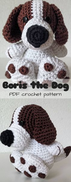 He's SOOOOOO CUTE!!!! What an adorable crochet puppy toy! Such a cute amigurumi dog pattern to DIY! Check out all of craft evangelist's DIY toy finds!