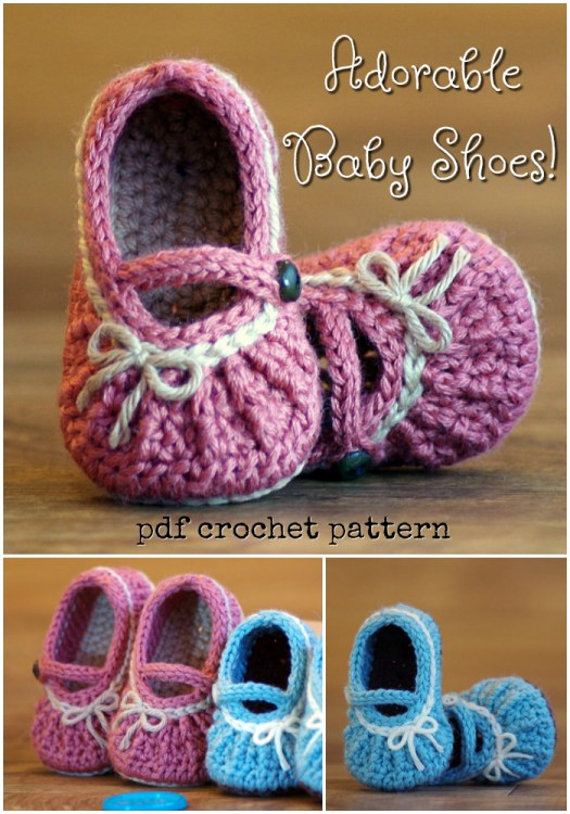 Absolutely adorable baby shoes! Check out this crochet pattern for easy baby shoes. Cozy Mary Jane slippers. Super great handmade baby shower gift idea!