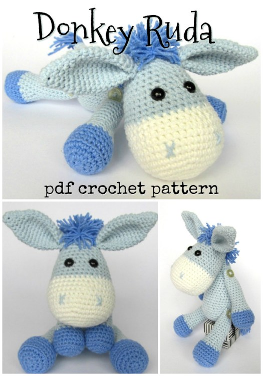 Ozzy - cuddly toy. Crochet donkey - animal art doll. Soft gift ... | 750x525