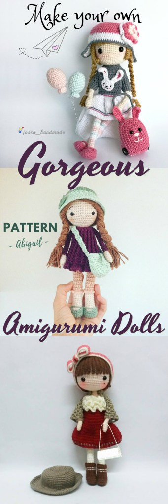 I love these gorgeous crochet amigurumi doll patterns! So detailed and beautiful! They would make great handmade gifts! found by #craftevangelist