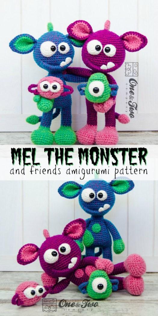 Baby Knitting Patterns Monster Amigurumi... | 1050x525