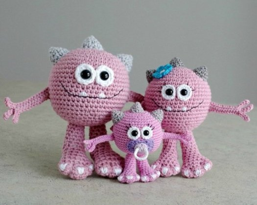 Amigurumi Monsters Free Crochet Patterns | 420x525