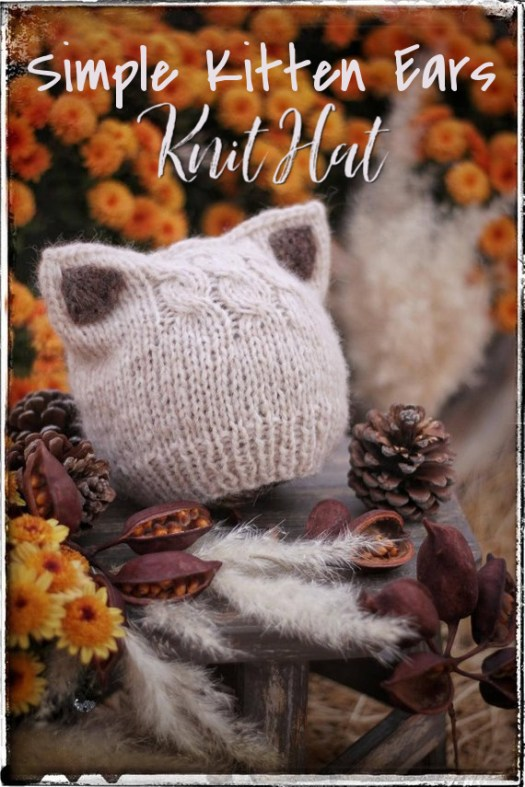 I love this adorable sweet kitten ears knit hat pattern! It is a super simple knitting pattern, in sizes baby to adult! Such a lovely handmade gift idea! #craftevangelist