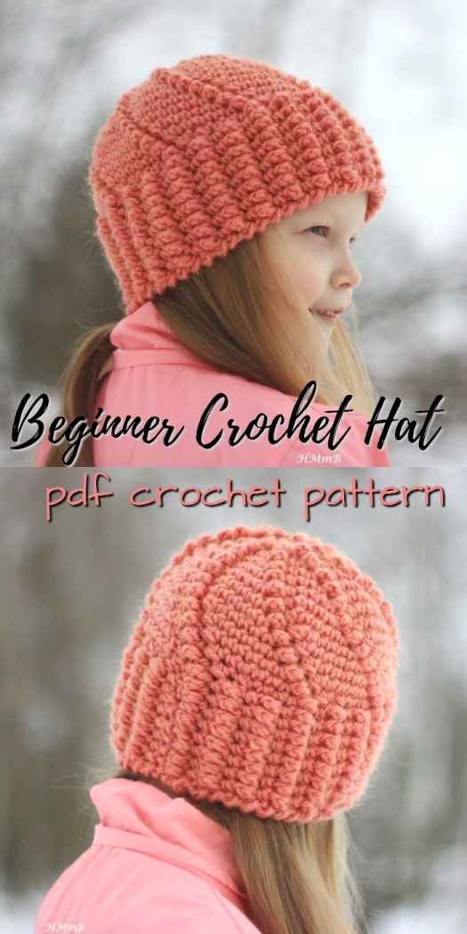 Lovely swirl stitch on this easy beginner hat crochet pattern! Lovely pattern for children! #crochet #hat #pattern #beginner #easy #yarn #crafts #craftevangelist