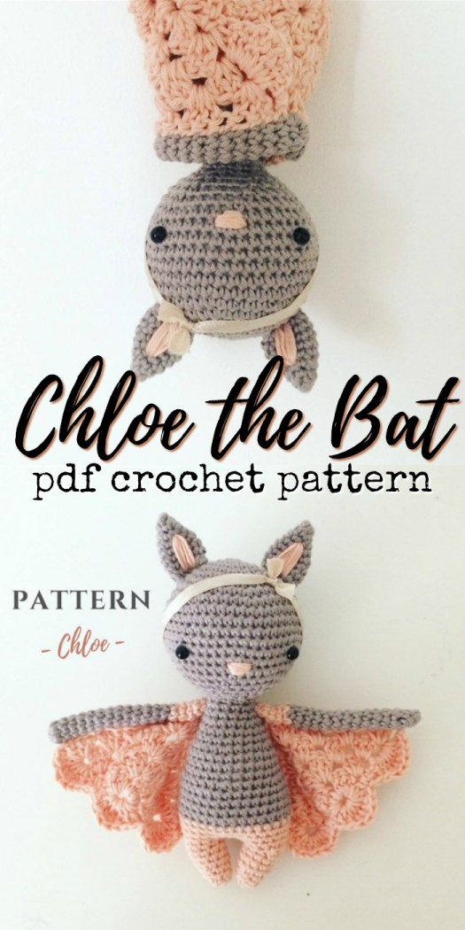 What an adorable little crocheted bat amigurumi pattern! I love how sweet this little bat toy is! The lacy detail on the wings is amazaing!