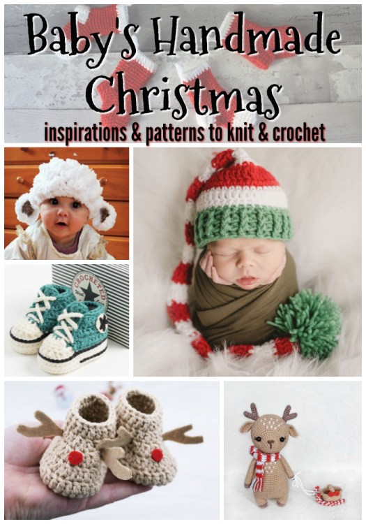 Super adorable Christmas-inspired patterns to knit and crochet for baby this Christmas! I love the little sheep hat! So fuzzy & cute! #crochet #patterns #knit #baby #knitforbaby #crochetforbaby #christmas #holidays #handmadegifts #diy #yarn #crafts #craftevangelist