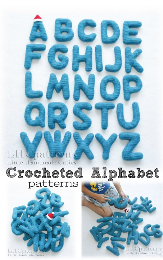 Such a fun idea! Stuffed crocheted amigurumi letters of the alphabet! Perfect baby toy or initials for a bedroom! #crochet #crafts #yarn #alphabet #toys #stuffies #baby #craftevangelist