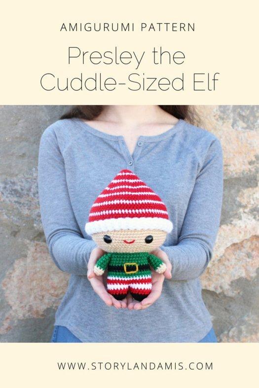 I love this cute amigurumi elf crochet pattern! Perfect little toy for Christmas! #crochet #pattern #amigurumi #crafts #yarn #craftevangelist