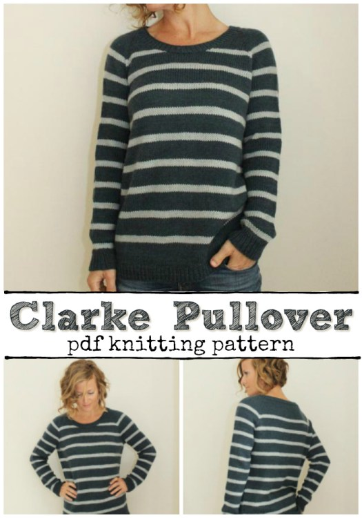 44a5aea9b494b8 Super cute and stripey raglan top-down knit pullover pattern! I love this  sweater