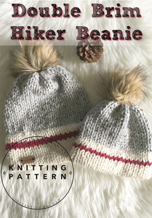 Love this knitting pattern for a Double Brim Hiker Beanie! Would be perfect  for outdoor c7740dea7f0