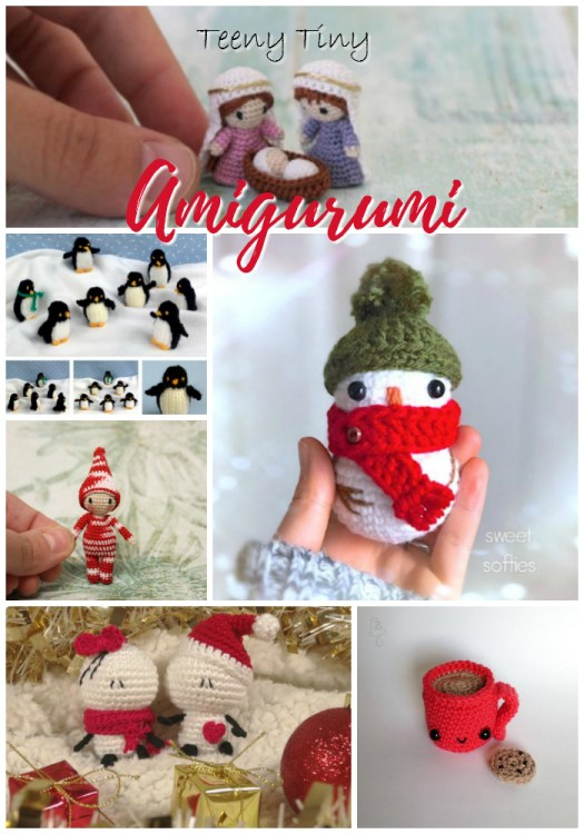 Check out these teeny tiny amigurumi! They would make perfect last minute gift ideas, little ornaments or toys for a kiddo! Love these! #crochet #amigurumi #diy #crafts #yarn #handmadegifts #handmade #knit #pattern #snowman #christmas #hotcocoa #craftevangelist