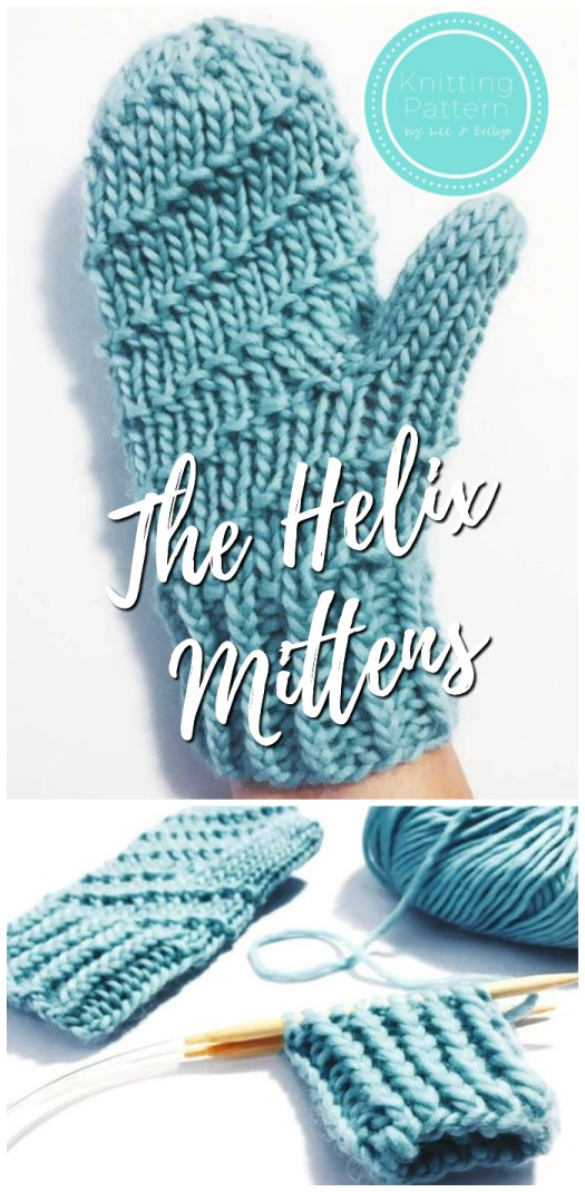 Knitting pattern for these spiral embellished mittens! Looks like a fun pattern to knit! Can't wait to make these! #knitting #pattern #mittens #yarn #crafts #craftevangelist