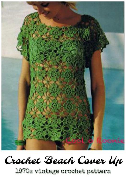 Vintage 1970s crochet beach cover up tunic crochet pattern. Love this sweet vintage pattern! So cute! #crochet #pattern #crochetpattern #vintage #1970 #diy #yarn #crafts #beachwear #craftevangelist