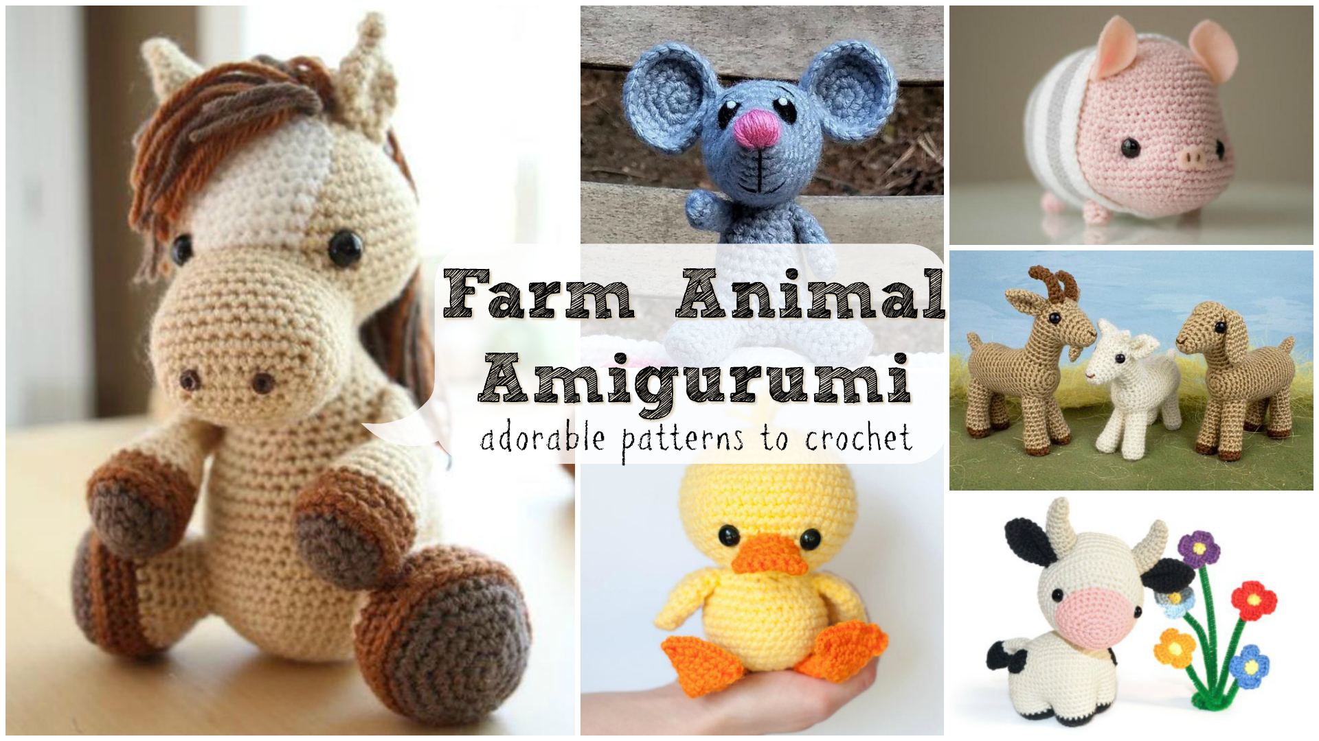 Farm Horse crochet pattern - Amigurumi Today   1080x1920