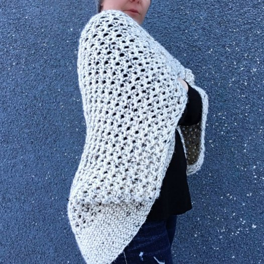 Chrysalis Cardigan FREE Knitting Pattern at www.craftevangelist.ca