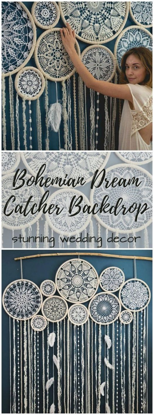 Gorgeous bohemian dream catcher wall hanging, perfect for a wedding or bedroom instead of a headboard! I love this so much!!!