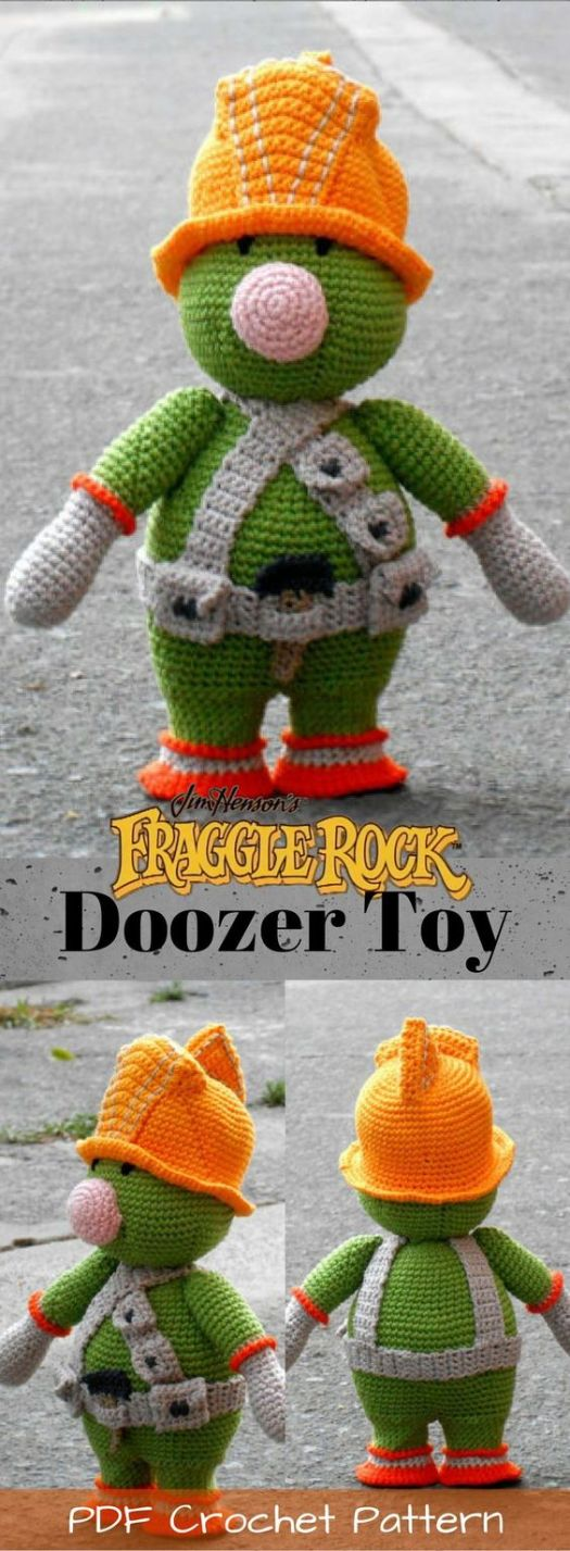 Doozer amigurumi crochet pattern for stuffed doozer builder toy from Jim Hensen's Fraggle Rock! I loved these little guys as a kid! #crochet #pattern #crochetpattern #amigurumi #fragglerock #jimhensen #crafts #yarn #craftevangelist