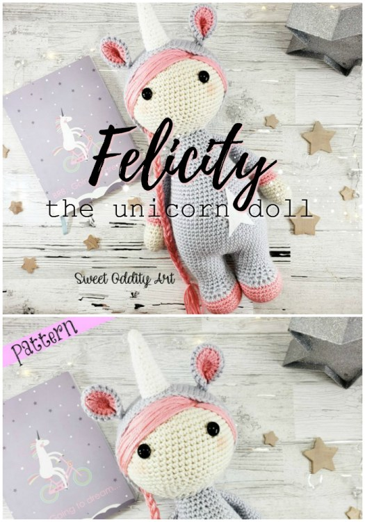 Felicity the Unicorn Doll is a lovely little amigurumi unicorn doll crochet pattern, perfect for a first time amigurumi project. Love this adorable little doll! Can't wait to make it! #yarn #crafts #amigurumi #crochet #pattern #amigurumipattern #crochetpattern #crochetdoll #amigurumidoll #unicorn #crochetunicorn #craftevangelist