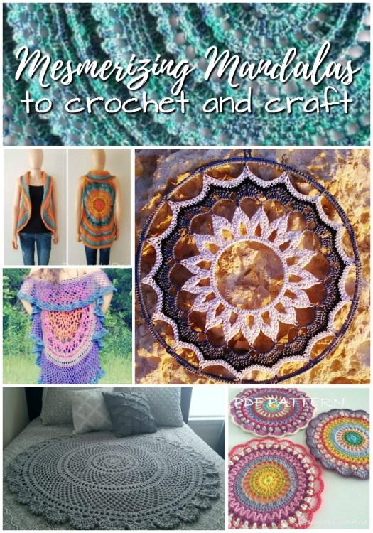 Gorgeous Mandala Patterns! Mostly crochet patterns to make these stunning mandalas! Loving mandalas right now! #crochetpattern #yarn #crafts #mandala #crochet #craftevangelist