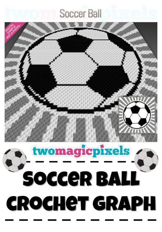Soccer Ball Crochet Graph, perfect for a corner to corner crochet blanket! #soccer #soccerball #crochet #crochetpattern #blanket #crochetblanket #soccerblanket #soccerthrow #pattern #yarn #crafts #craftevangelist