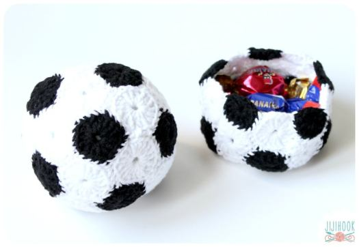 soccer ball and basket crochet pattern