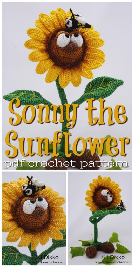 Sonny the Sunflower Amigurumi crochet pattern