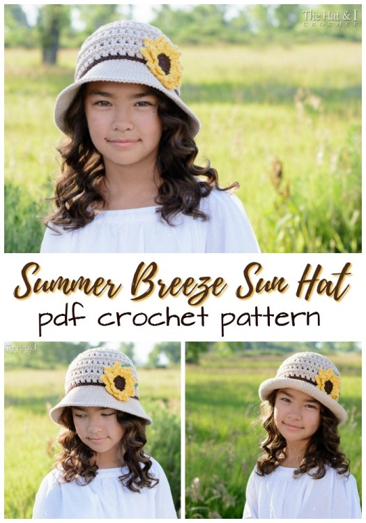 Summer Breeze Sun Hat Crochet Pattern