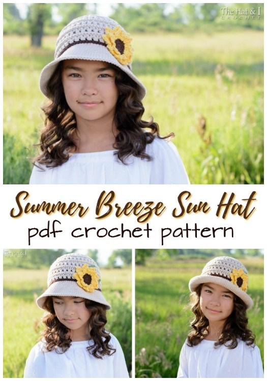 Summer Breeze Sun Hat Crochet Pattern