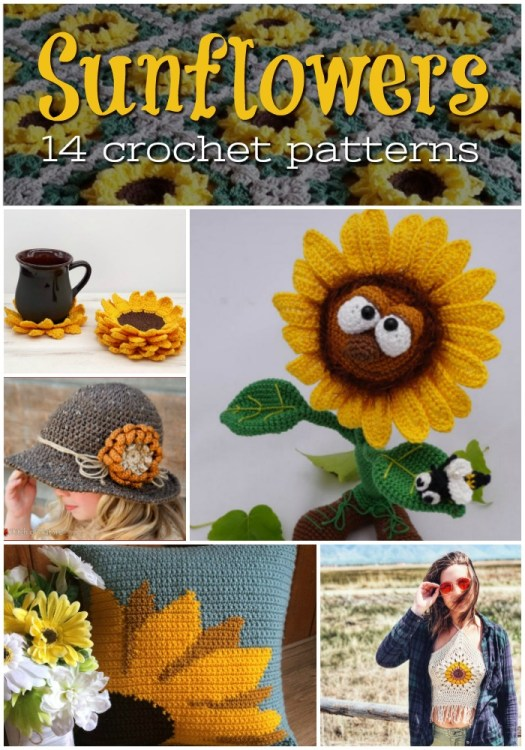 Sunflower crochet patterns