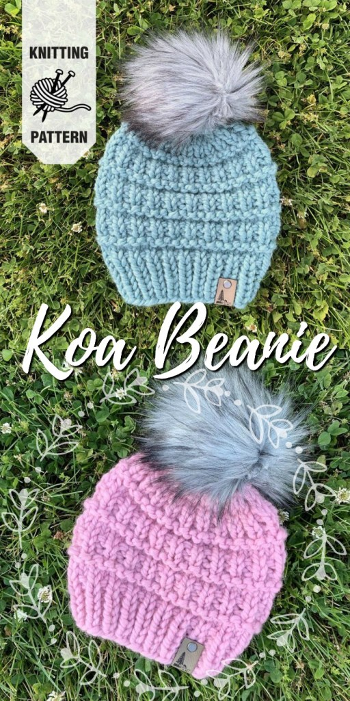 Beautiful chunky knit hat pattern made with super bulky yarn. I love the texture on this easy beginner knitting pattern. #knitting #knittingpattern #knithat #knithatpattern #yarn #crafts #craftevangelist