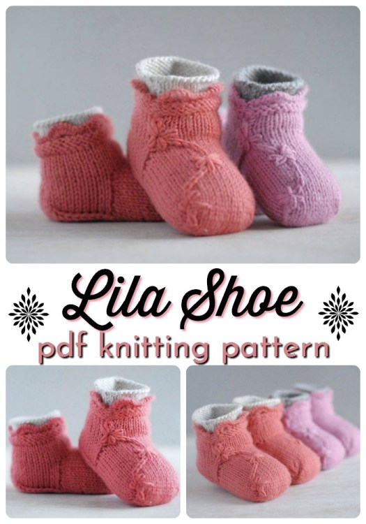 Adorable knitted baby slippers pattern. I love the flowers embellishment on this knitting pattern for baby booties, with built in socks, designed not to slip off! #knittingpattern #knittedbooties #knittedbabybooties #babybooties #knitting #knitslipperpattern #knitbootiepattern #yarn #crafts #craftevangelist