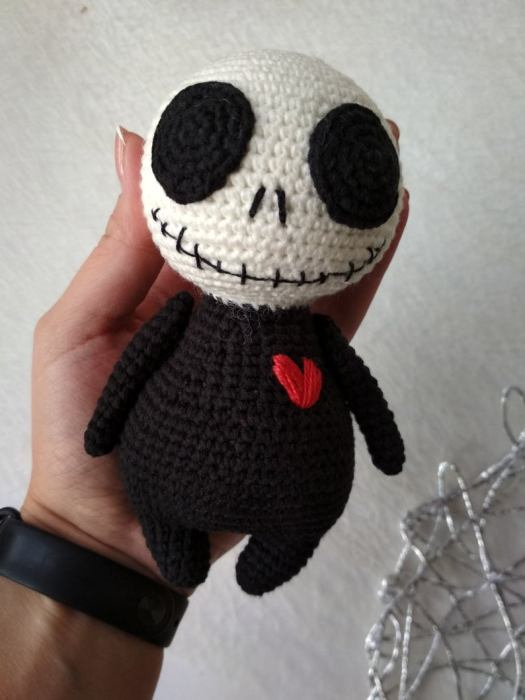 Crochet Pattern - Jack Skellington amigurumi doll toy PDF file ... | 700x525