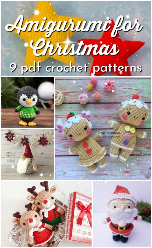 Adorable amigurumi patterns to make for Christmas decorations or just lovely handmade toys as gifts! So cute! I love these little characters! #amigurumipattern #crochetpattern #amigurumi #handmadetoys #craftevangelist