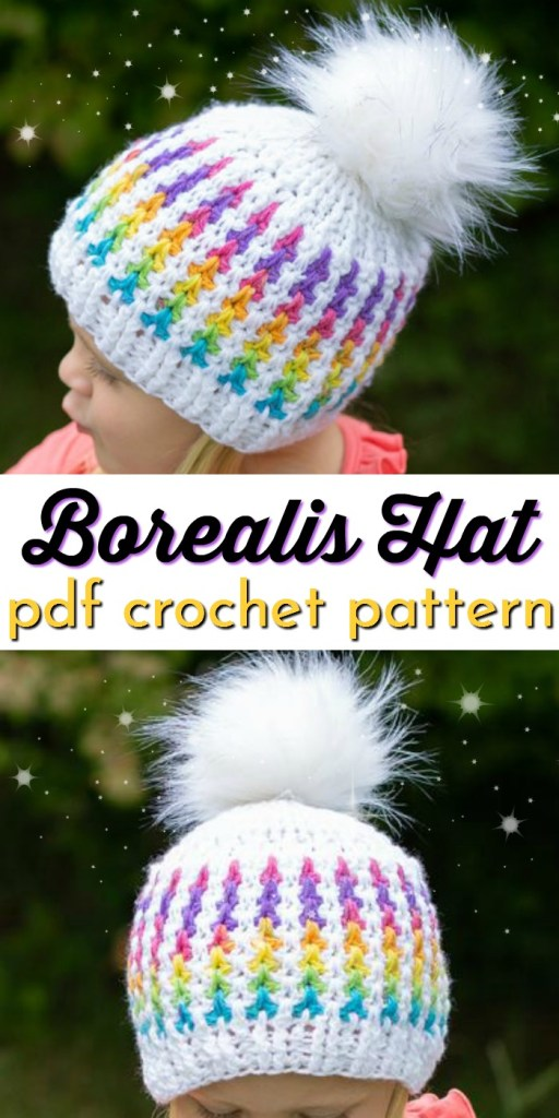 Such a sweet and cute crochet beanie pattern with colourful vertical stripes! This would make a great quick Christmas gift for kids! #crochetchristmas #crochetpattern #crochetornament #crochethat#hatpattern#craftevangelist