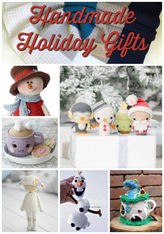 Cute handmade gifts to make and gift this Christmas season! From amigurumi toys to fairy house tea cosies and trendy beanies, this is a great collection of patterns and handmade gift ideas for you! #crochetpatterns #handmadegifts #craftevangelist #amigurumi #blanketpatterns #yarn #crafts