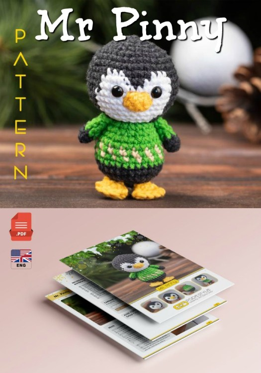Cute little penguin amigurumi crochet pattern makes a perfect Christmas ornament or little toy gift! #crochetpattern #amigurumipattern #crochetpenguin #crochetChristmas #crochetamigurumi #craftevangelist