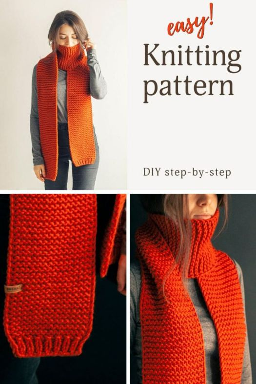 Easy scarf knitting pattern for a beginner knitter! Love this simple pattern with video tips. Perfect first project to learn to knit! #knittingpattern #easyknittingpattern #beginnerknittingpattern #craftevangelist