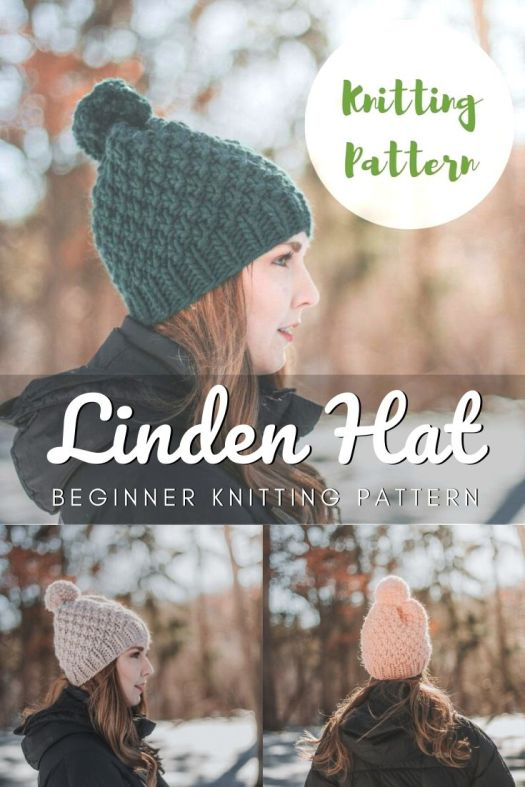 Gorgeous textured chunky beginner knitting pattern for this trendy beanie! Love the simple pattern, perfect easy pattern for new knitters! Can't wait to make one of these... they work up so quickly! #quicknits #knittingpattern #knitbeaniepattern #easyknittingpattern #beginnerknits #beginnerknittinpattern #knittoquepattern #craftevangelist
