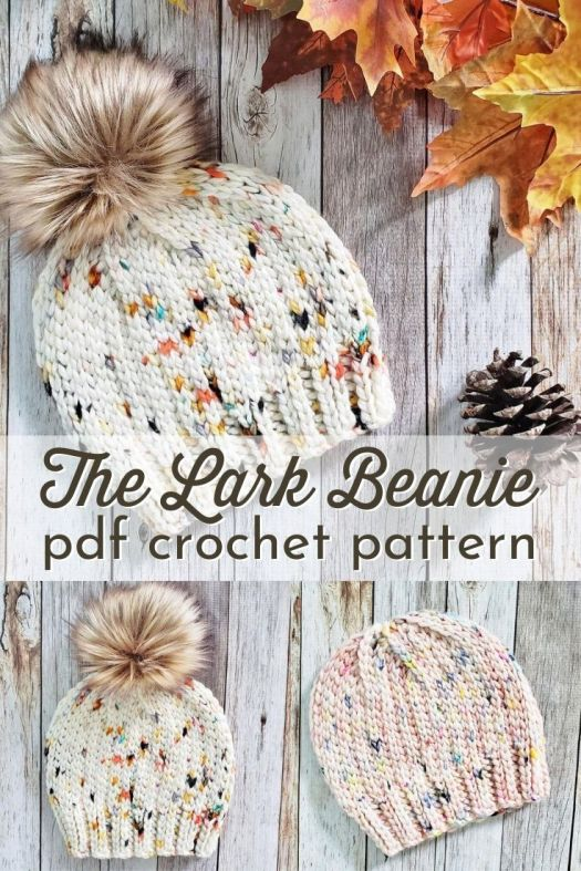 This pattern is CROCHETED! The knit-look stitch closes up gaps and makes for a warm and cozy crocheted hat hat looks knit! #crochetpattern #crochetbeanie #crochethatpattern #crochetbeaniepattern #crochettoquepattern #toque #craftevangelist #patternroundup