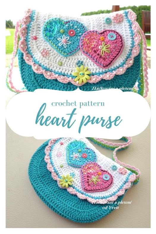 Cute little crochet heart purse pattern, perfect to make for Valentine's Day. Great handmade gift idea for a little girl for Valentine's Day! I love little purses! #crochetpattern #crochetbagpattern #crochetpurse #littlegirlpurse #crochet #craftevangelist