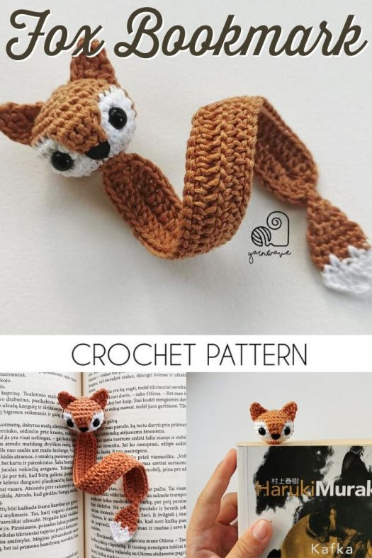 Absolutely fun crochet bookmark pattern. Cute little fox bookmark amigurumi crochet pattern. Perfect last minute gift idea for a bookworm! #crochetpattern #amigurumipattern #crochetbookmark #crochetfox #patternroundup #craftevangelist