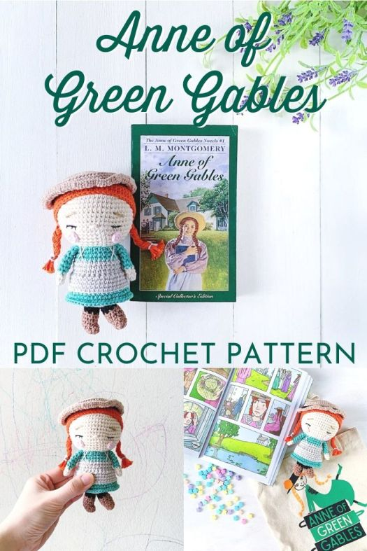 Anne of Green Gables amigurumi doll pattern. Lovely crochet doll pattern, just a little doll to make! #crochetpattern #amigurumipattern #amigurumidoll #crochetdollpattern #craftevangelist