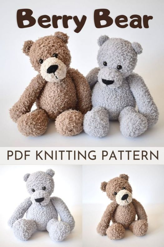 Adorable stuffed bear KNITTING pattern for this sweet and fuzzy amigurumi knitting pattern! Can't wait to knit one of these fuzzy and cuddle creatures! #knittingpattern #amigurumipattern #knitamigurumi #amigurumiknitting #knitknitknit #knittoypattern #craftevangelist