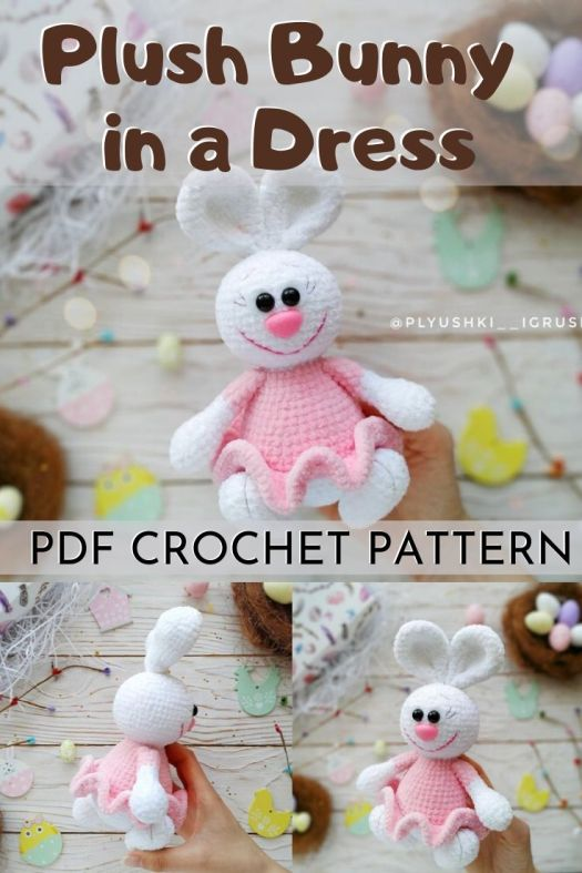 Velvet Easter Bunny Basket Free Crochet Pattern Tutorial | 787x525